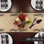Merry Christmas BLK Kraft Paper Runner