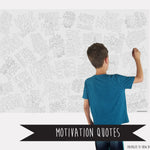 Motivation Quotes Table Top Coloring Banner