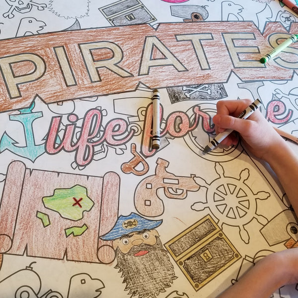Pirates Table Top Coloring Banner