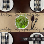 Today Is Your Special Day Kraft Paper Runner