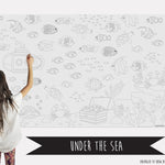 Under the Sea Table Top Coloring Banner