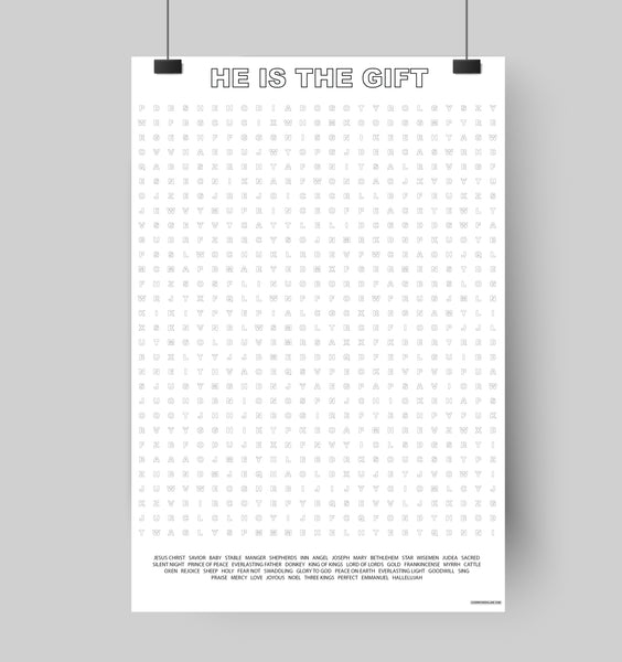 He Is The Gift Giant Word Search Puzzle