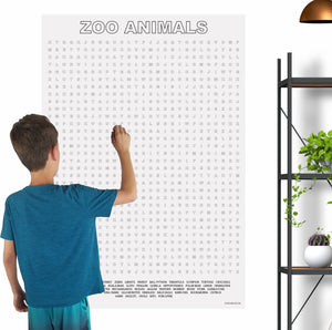 Zoo Animals Giant Word Search Puzzle