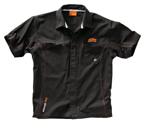 KTM MECHANIC SHIRT BLACK ADULT LOGO WORK SHIRT