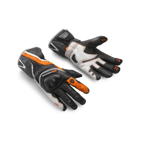 KTM VECTOR X2 LEATHER GLOVES BLACK PREMIUM STREET ADVENTURE