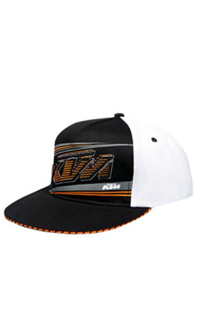KTM MADER MESH HAT BLACK/WHITE FLEX FIT ADULT LOGO CAP SIZE L/XL