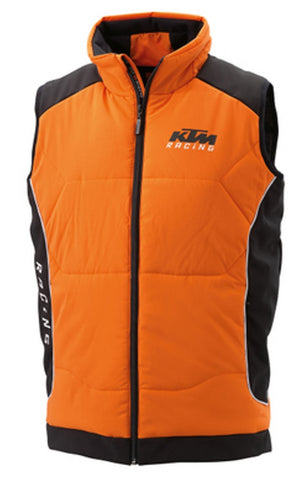 KTM Softshell Vest Quilted Zip Up Logo Vest