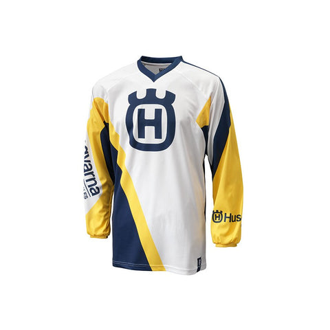 HUSQVARNA RACING JERSEY WHITE MX OFF-ROAD SHIRT