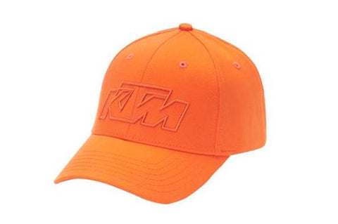 KTM OFFROAD HAT ORANGE FITTED FLEX FIT LOGO CAP SIZE L/XL