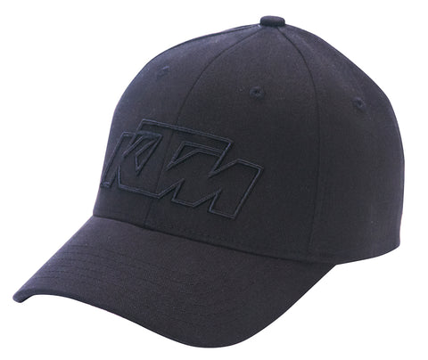 KTM OFFROAD HAT BLACK FITTED FLEX FIT LOGO CAP SIZE L/XL
