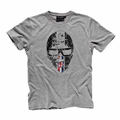 NEW GENUINE TRIUMPH 1902 HELMET T-SHIRT MEN'S SHIRT GREY $35.99 FREE SHIPPING!