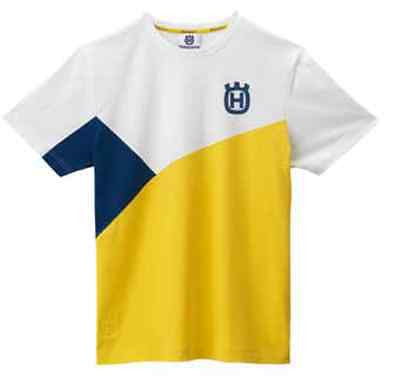 NEW HUSQVARNA ASYMMETRIC TEE MEN'S LOGO T-SHIRT WAS $31.99 NOW $28.99 FREE SHIP!