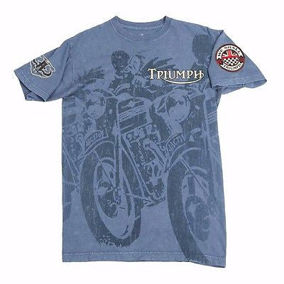 NEW TRIUMPH UHL THUNDERBIRD T-SHIRT MEN'S MINERAL WASH TEE NOW $49.99 FREE SHIP!