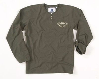RARE NEW HUSQVARNA VINTAGE SHIRT ARMY GREEN LONG SLEEVE WAS $42.95 NOW $24.99!