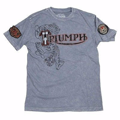 NEW TRIUMPH UHL TIGER T-SHIRT MEN'S MINERAL WASH TEE NOW $57.95 FREE SHIPPING!