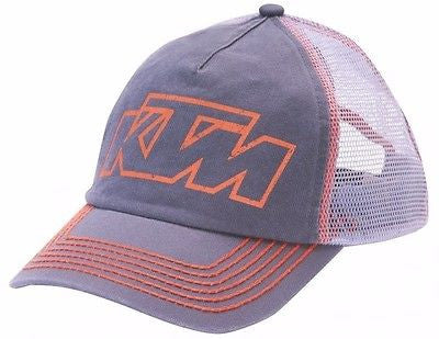 KTM VINTAGE HAT GREY ADJUSTABLE MEN'S LOGO CAP