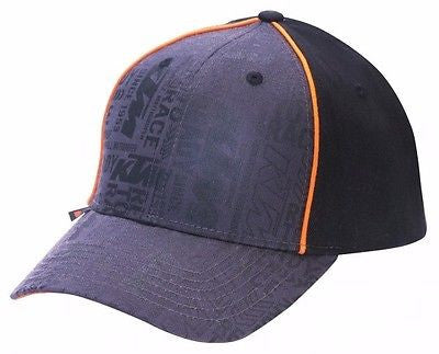 KTM STAMPED LOGO HAT BLACK ADJUSTABLE MEN'S LOGO CAP