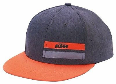KTM STRIPE HAT FLATBILL ADJUSTABLE MEN'S LOGO HAT