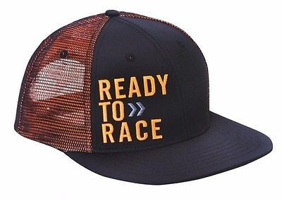 KTM READY TO RACE HAT FLATBILL ADJUSTABLE MEN'S LOGO HAT