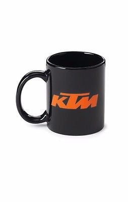 NEW GENUINE KTM MUG BLACK LOGO COFFEE MUG NOW $9.99 FREE SHIPPING!