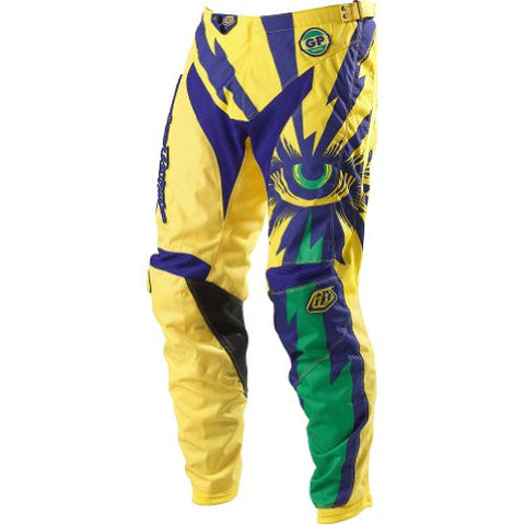Troy Lee Designs GP Cyclops Men's Motocross/Off-Road/Dirt Bike Motorcycle Pants - Yellow/Purple / Size 32