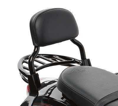 Kawasaki Vulcan 900 Custom Black Passenger Backrest