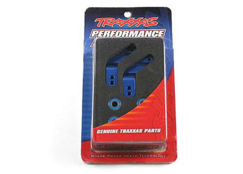 Traxxas 3652A Aluminum Rear Stub Axle Housing Blue, Rustler