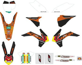 KTM SX Factory Graphic Kit SX Models 13-15