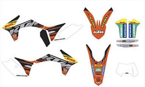 KTM Factory Enduro Graphics Kit XC-W/EXC Models 12-13