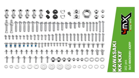 KAWASAKI KX KXF PRO-PACK BOLT KIT 162 PIECE FACTORY STYLE HARDWARE KIT