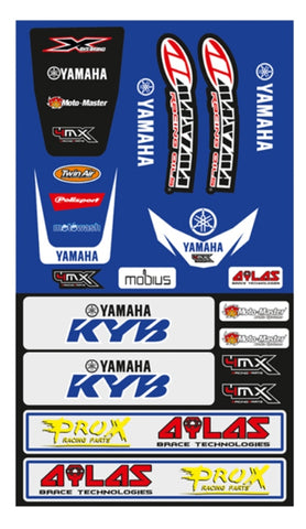 YAMAHA FENDER DECAL KIT YZ WR XT UNIVERSAL FRONT & REAR FENDER STICKER KIT