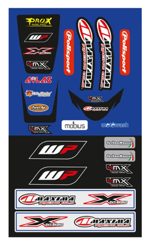 HUSQVARNA FENDER DECAL FC FE TE UNIVERSAL FRONT & REAR FENDER STICKER KIT