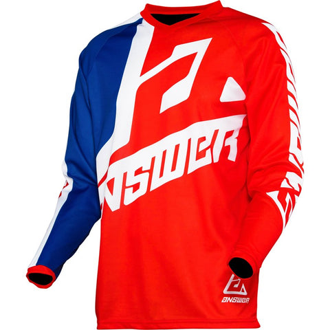 ANSWER RACING A20 YOUTH SYNC VOYD MX JERSEY RED/BLUE KID'S RIDING SHIRT