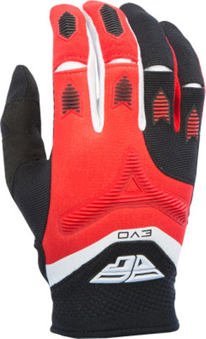 FLY RACING EVO GLOVES MX OFF-ROAD GLOVES RED/BLACK