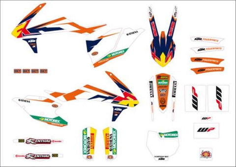 KTM Factory Style Graphic Kit SX-F/XC-F 2016 Models
