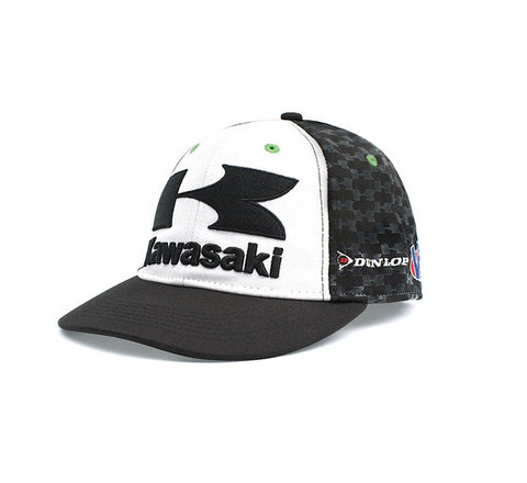 KAWASAKI RACE CAP HAT MEN'S MEDIUM / LARGE STRETCH FIT
