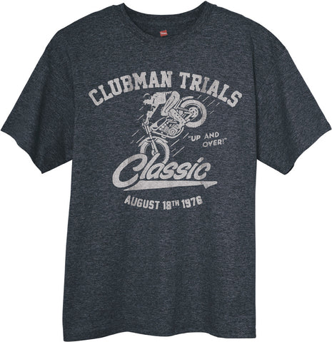 Up and Over Clubman Trial Vintage Style T-shirt