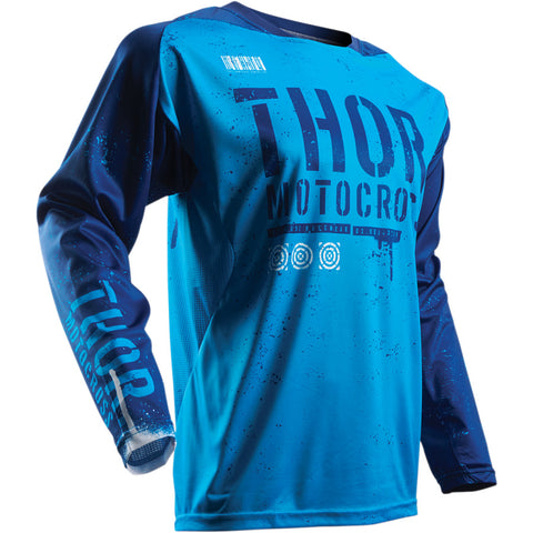 THOR S7 OBJECTIVE NAVY/BLUE JERSEY MX OFF-ROAD LOGO JERSEY