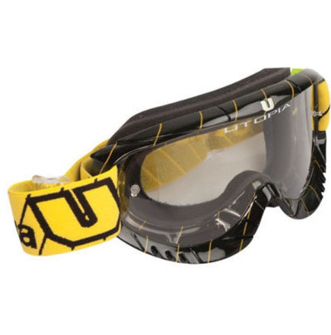 Utopia Slayer Pro Goggles Black/Yellow MX Off-road Goggles