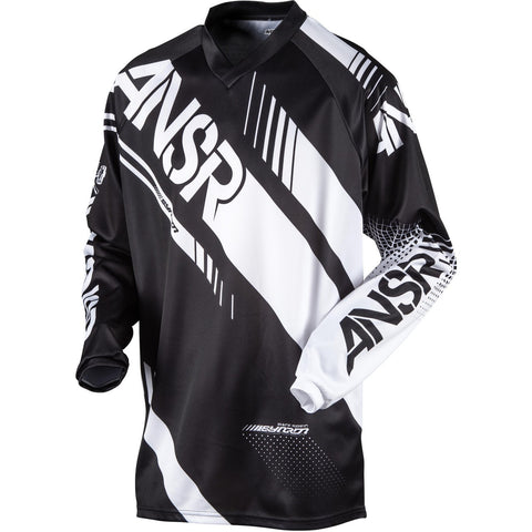 ANSWER RACING ELITE JERSEY BLACK/WHITE MX OFF-ROAD JERSEY