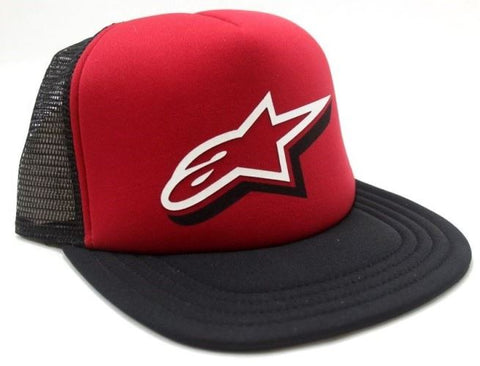 ALPINESTARS DUELING CUSTOM TRUCKER HAT BLACK/RED