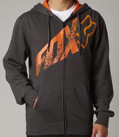 FOX RACING RELAYER ZIP FRONT HOODIE ADULT LOGO FLEECE JACKET