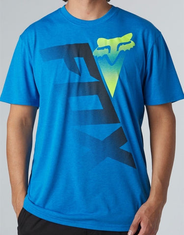 FOX RACING SHIV TECH TEE BLUE ADULT LOGO S/S T-SHIRT