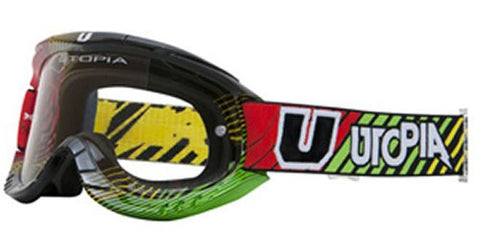 Utopia Slayer Pro MX Goggles Rasta