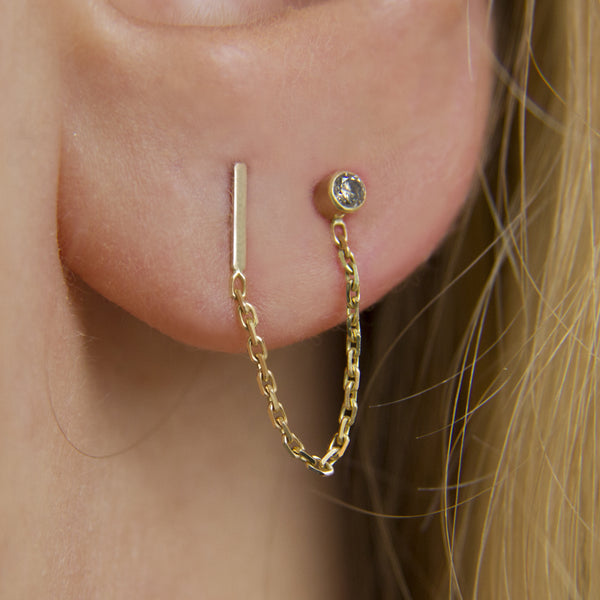 STORMY DIAMOND DOUBLE EARRING - Irena Chmura Jewellery