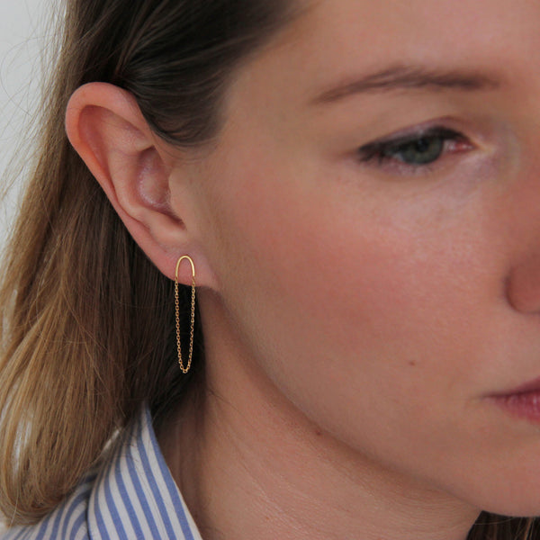 ARC & CHAIN EARRINGS - Irena Chmura Jewellery