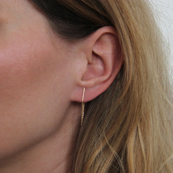 LINE & CHAIN EARRINGS - Irena Chmura Jewellery