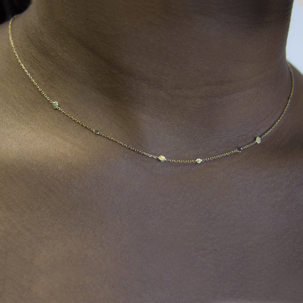 DOTS & CHAIN NECKLACE - Irena Chmura Jewellery