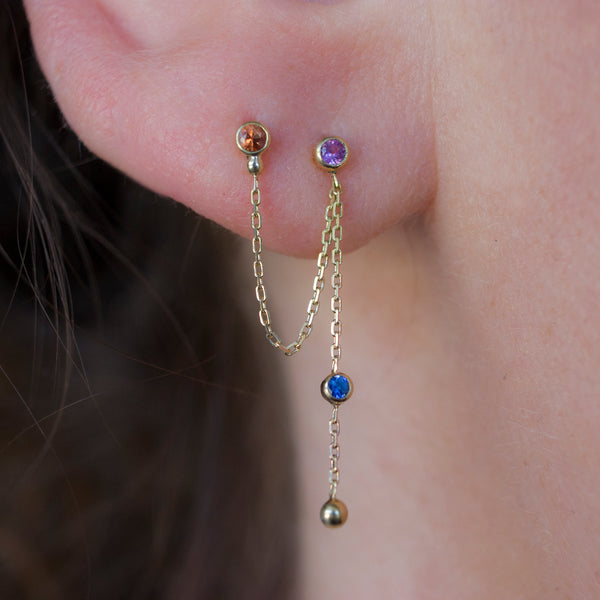 FREYA DOUBLE EARRING - Irena Chmura Jewellery