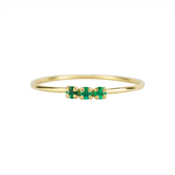 ELFIN 3 EMERALD RING - Irena Chmura Jewellery